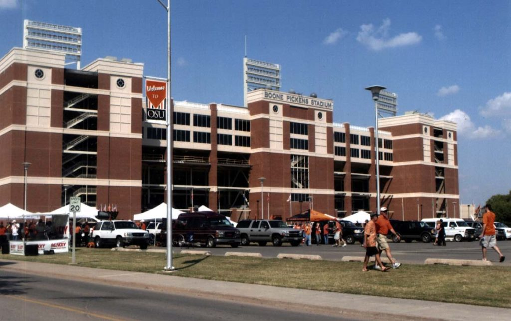 A renovated T. Boone Pickens Stadium opened at Oklahoma State University in 2003. Part of $70 million Pickens donated to OSU in 2003 funded the renovation. In late 2005, Pickens donated $165 million to OSU, the largest single gift given to an NCAA athletic program, to create an athletic village north of the stadium. To date, Pickens has donated a half billion dollars to the university.