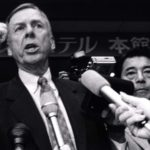 T. Boone Pickens speaks during famous Koito Manufacturing Co. annual meeting in Tokyo in 1990.