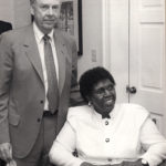 T. Boone Pickens visits with Texas political legend Barbara Jordan in the 1980s.