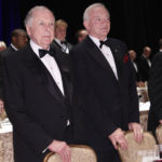 Dallas Cowboys owner Jerry Jones and fellow National Football Foundation board member T. Boone Pickens stand during opening ceremonies at the organization's Hall of Fame dinner at the Waldorf Astoria Hotel in New York December 4, 2012.