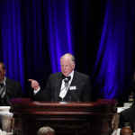 National Football Foundation board member T. Boone Pickens speaks during the organization's Hall of Fame dinner at the Waldorf Astoria Hotel in New York December 4, 2012.
