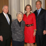 T. Boone Pickens, honorary chair emeritus Ebby Halliday, LaunchAbility CEO Cathy Packard, and Roger Staubach prior to the October 26, 2010, Expanding Worlds luncheon benefiting Dallas-based LaunchAbility, an organization that provides services to help children and adults with disabilities reach their maximum potential. Emmitt Smith joined Pickens and Staubach for a luncheon panel discussion.