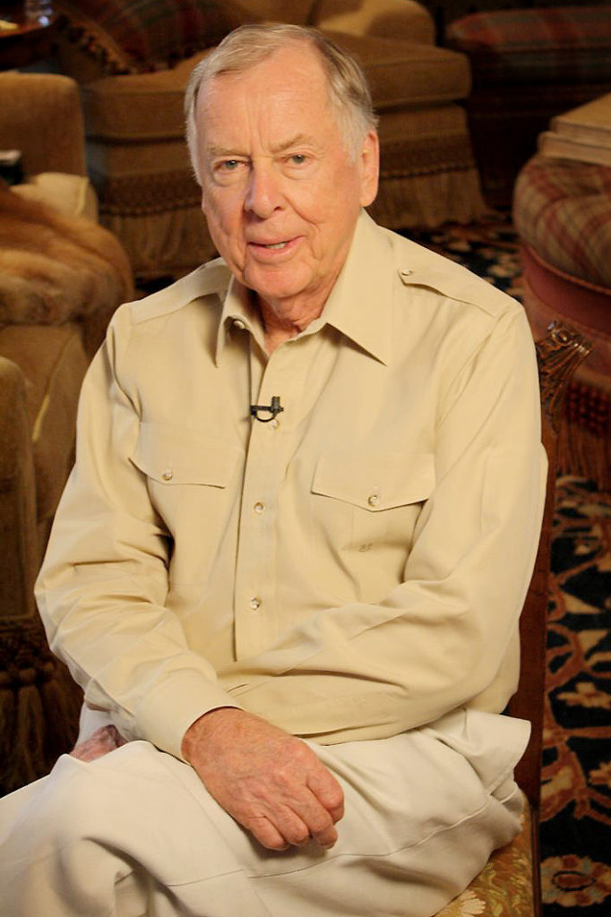T. Boone Pickens, sitting in his Texas Panhandle ranch home in June 2009, began the Pickens Plan in July 2008.