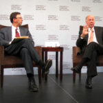 T. Boone Pickens speaks with CNN special correspondent Frank Sesno at the Council on Foreign Relations in Washington, DC, in 2009.